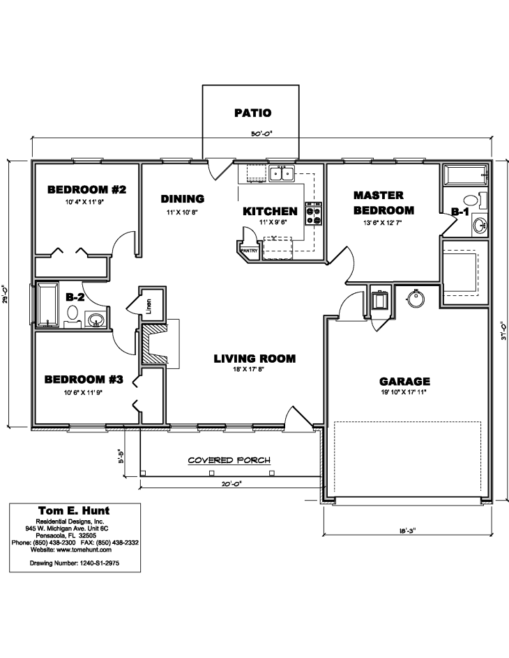 House Plan Detail: 1240-S1-2975